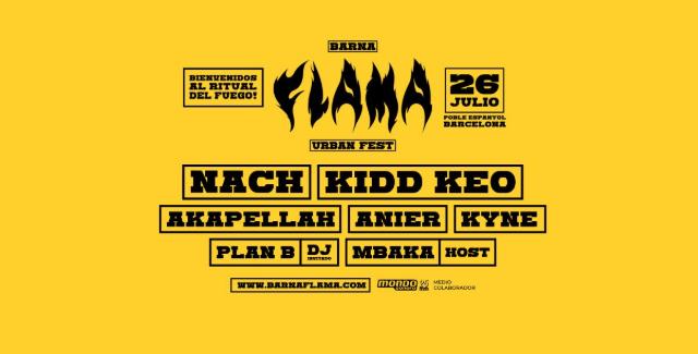 Barna Flama Urban Fest: llega a Barcelona el mayor festival de música urbana