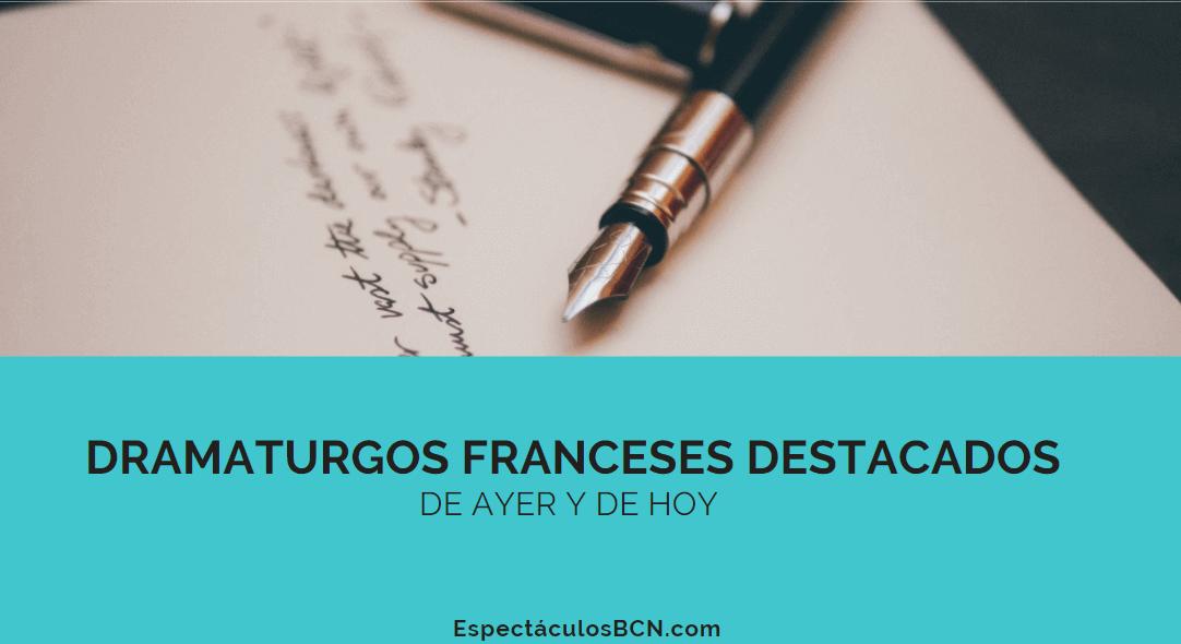 escritores teatro franceses