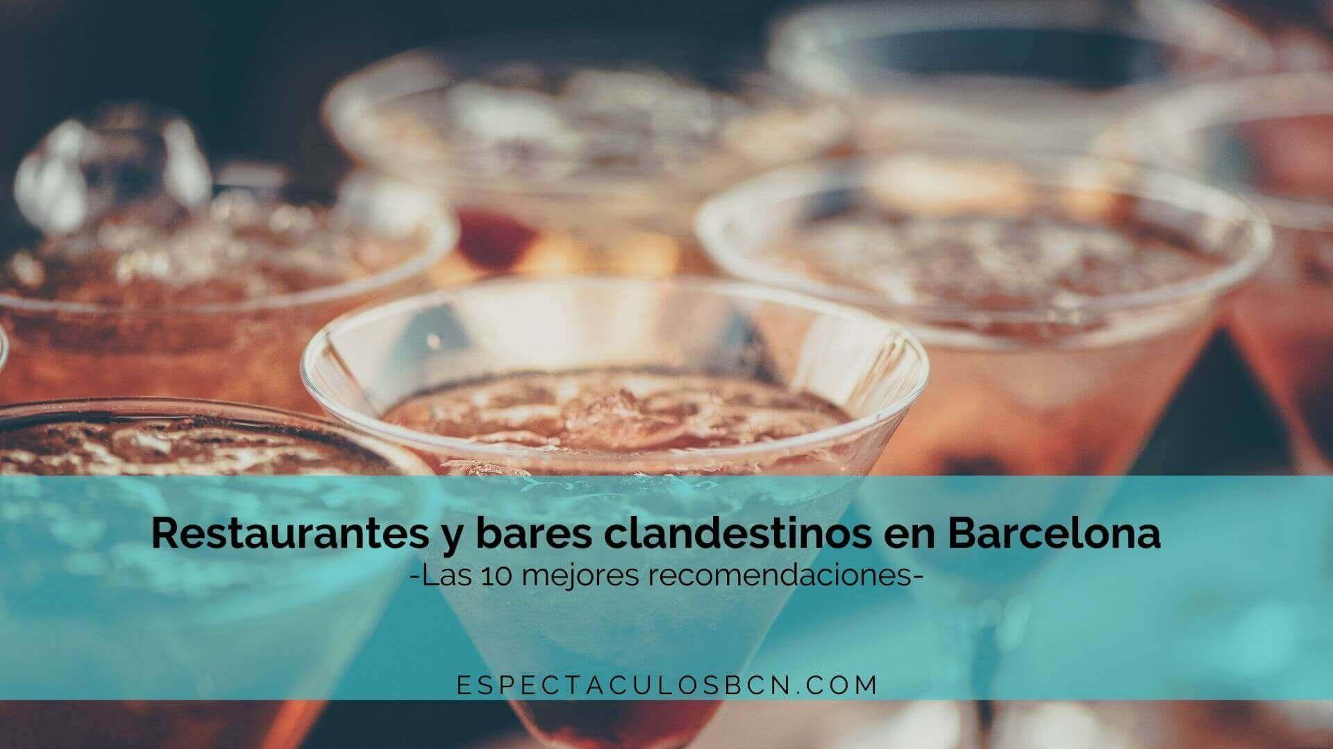 restaurantes clandestinos barcelona